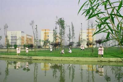 成都卫生学校-湖边漫步