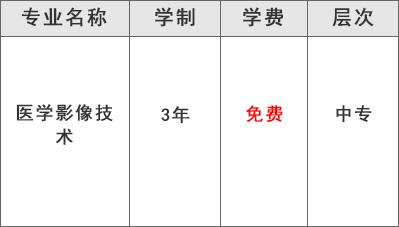 都江堰技工学校医药康养部(医学影像技术专业)学费